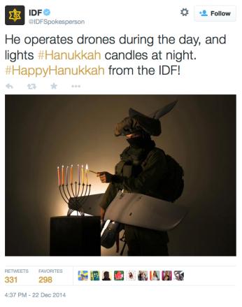 IDF Hanukkah on Twitter