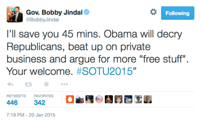 "Bobby Jindal ""Your"""